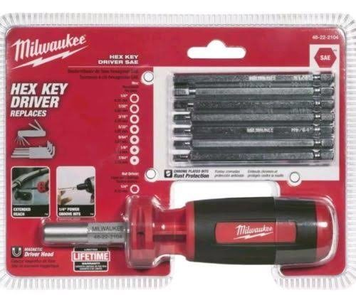 Milwaukee 48-22-2104 10-in-1 SAE Hex Driver