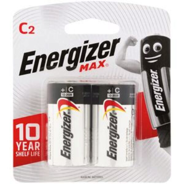 Energizer Max Battery Alkaline C (Price of 2)