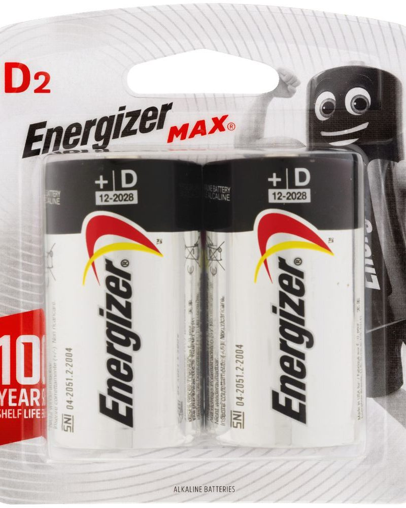 Energizer Max Battery Alkaline D (Price of 2)
